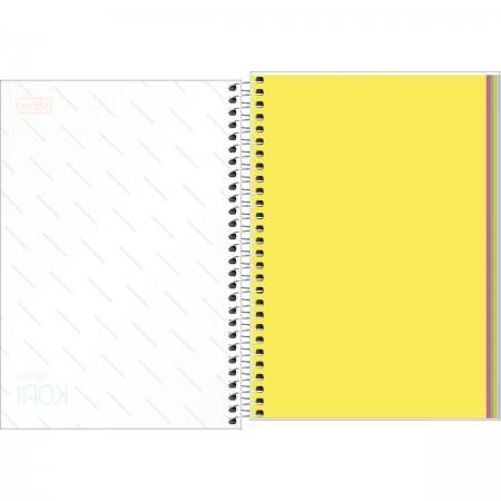 Caderno TILIBRA Espiral 1/4 Neon Kori 80 fls