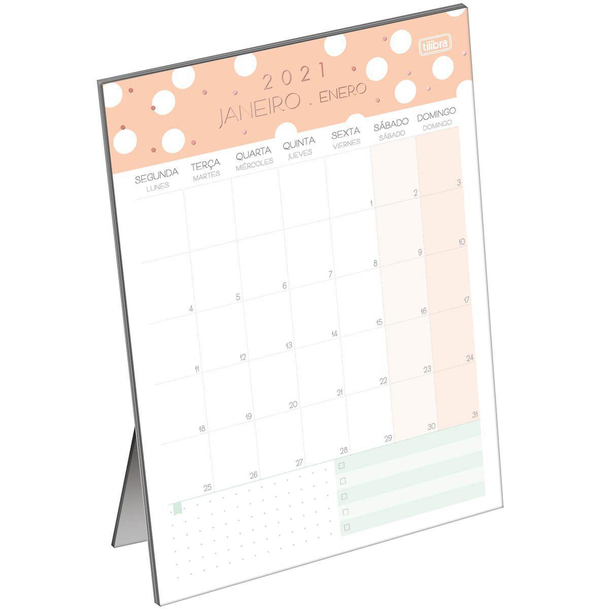 Calendário de mesa TILIBRA Soho 2021