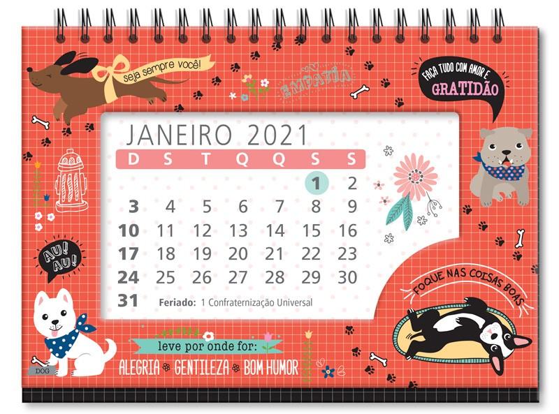 Calendário FINA IDEIA de Mesa Cachorro Amigo 1un.