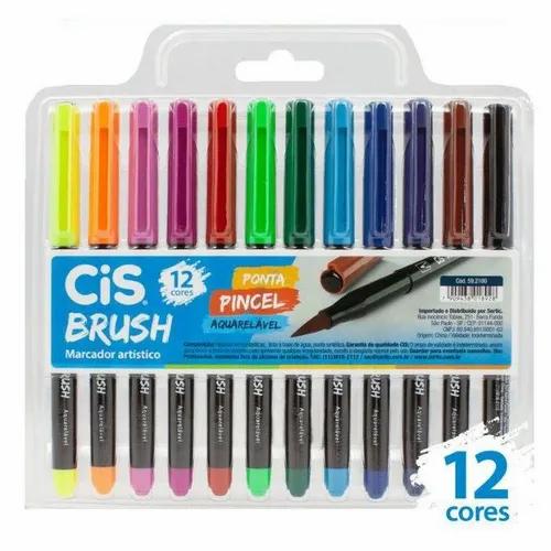 Caneta CIS Brush Aquarelável 12un.
