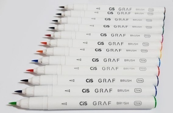 Caneta Cis Graf Brush Fine 1un.
