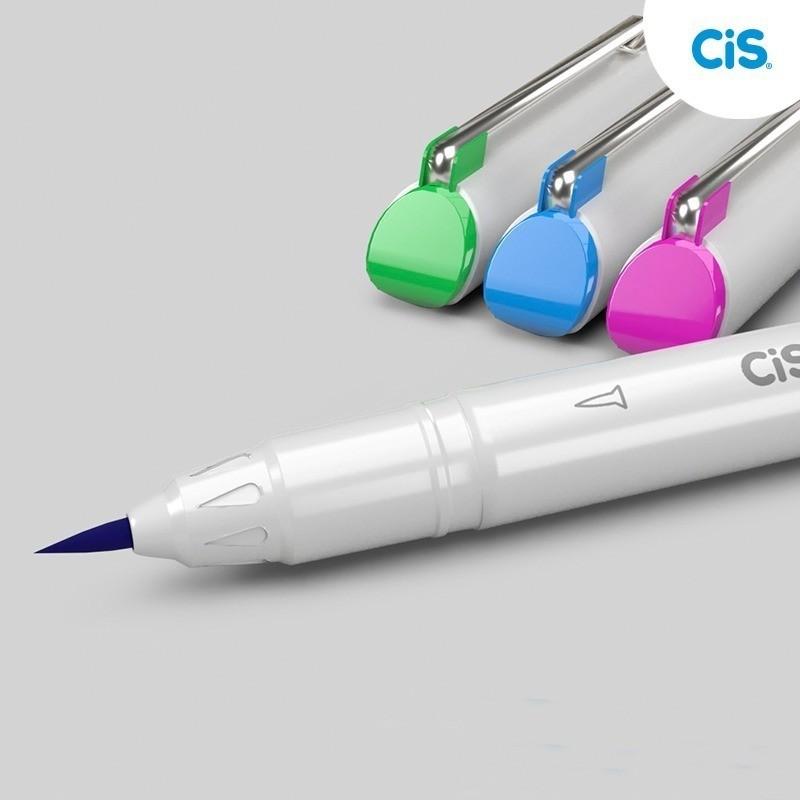 Caneta CIS Graf Brush Fine 6un.