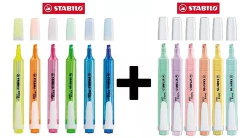 Caneta Marca Texto Stabilo Swing Cool 6 Neon + 6 Pastel