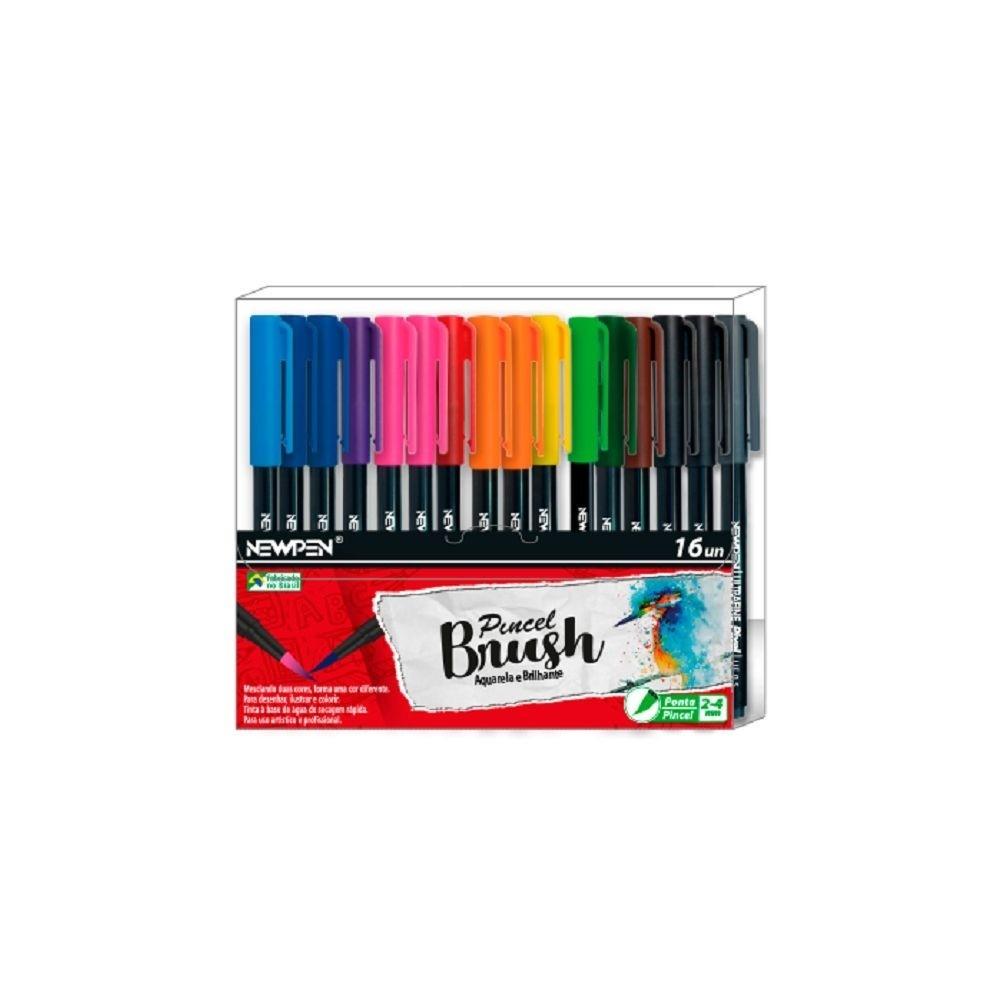Caneta NEWPEN Brush Pen 16un.