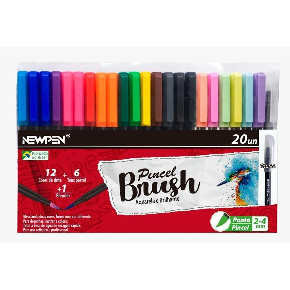 Caneta NEWPEN Brush Pen 20un.