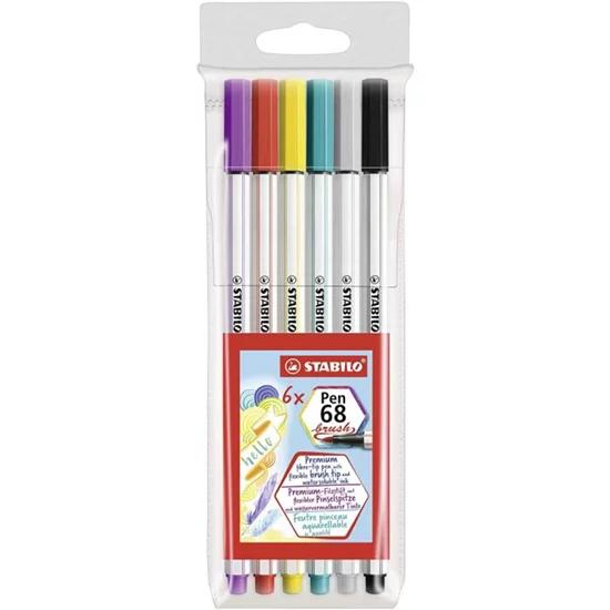 Caneta STABILO Brush Pen 68 6un