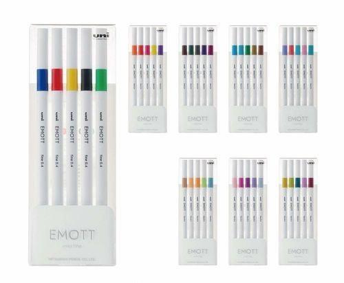 Caneta UNI Emott Fine Pen 0.4mm 5un.