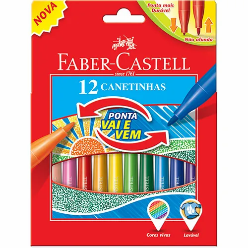 Canetinha FABER CASTELL Vai e Vem 12un.