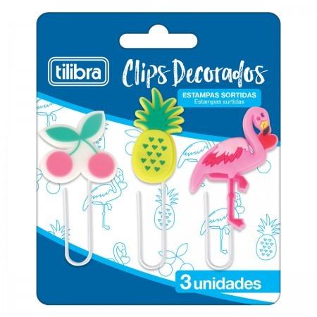 Clips TILIBRA Decorados 3un.