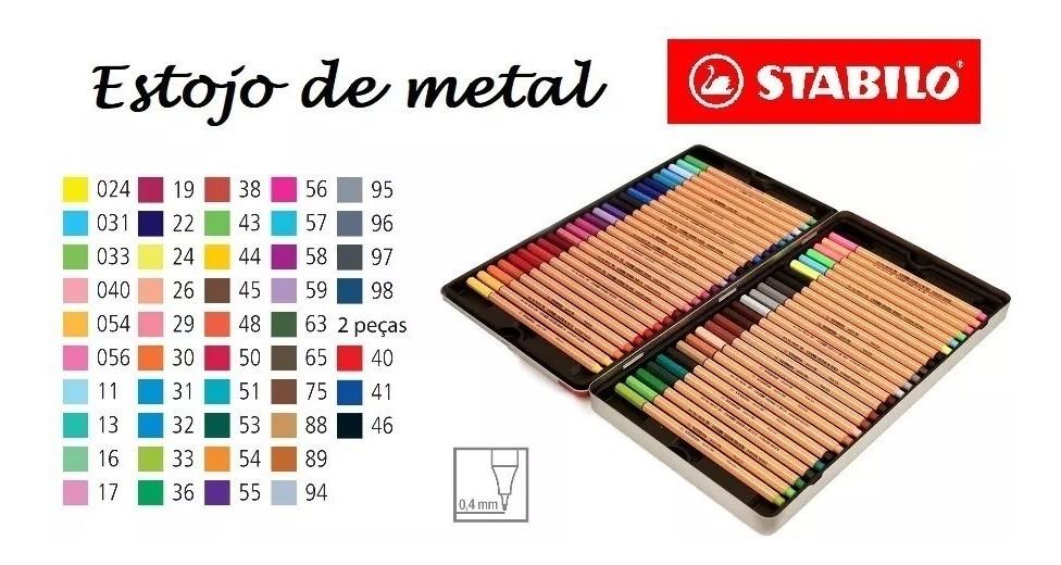 Estojo Caneta STABILO Pen 88 50un.