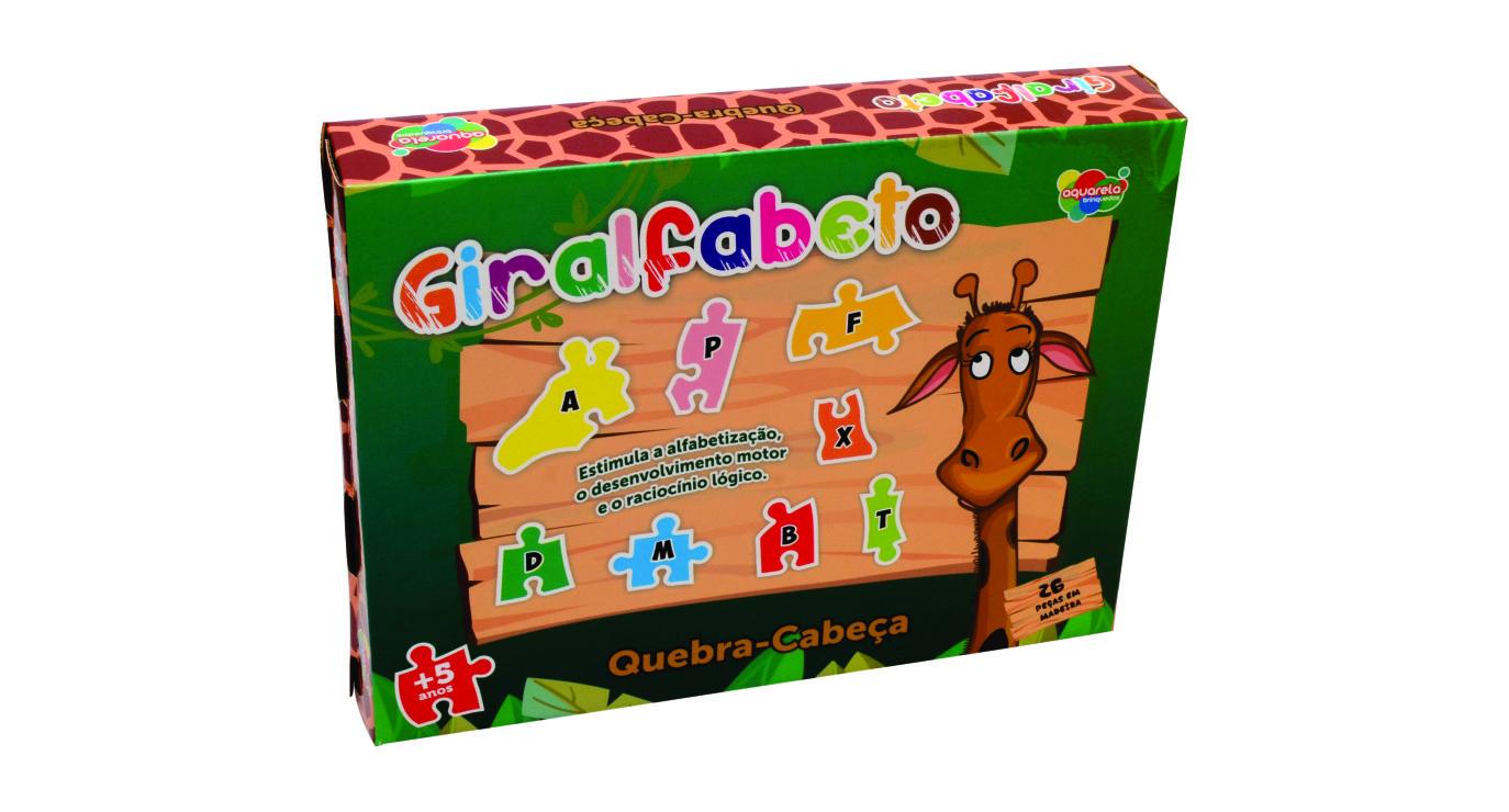 Giralfabeto AQUARELA 26pcs +5 anos