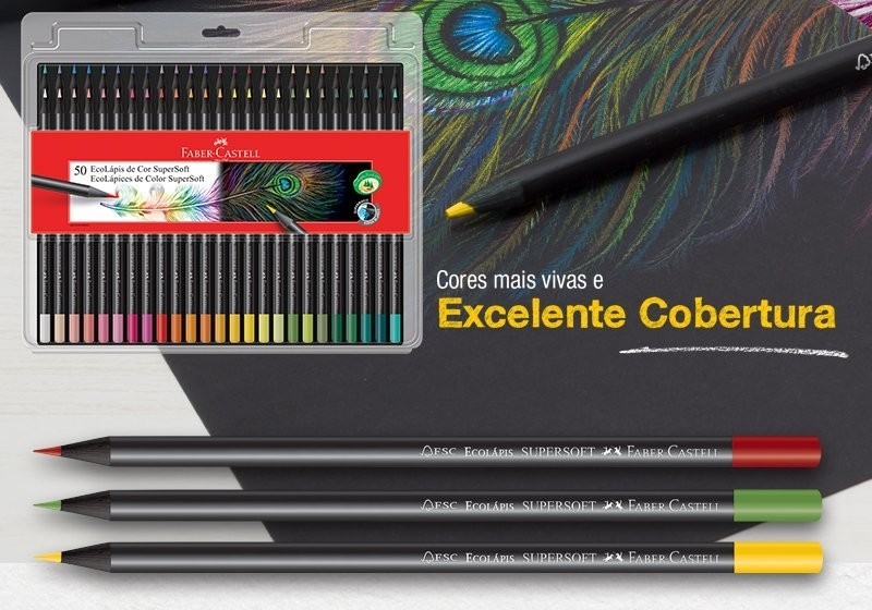 Lápis de Cor FABER CASTELL SuperSoft  50un.