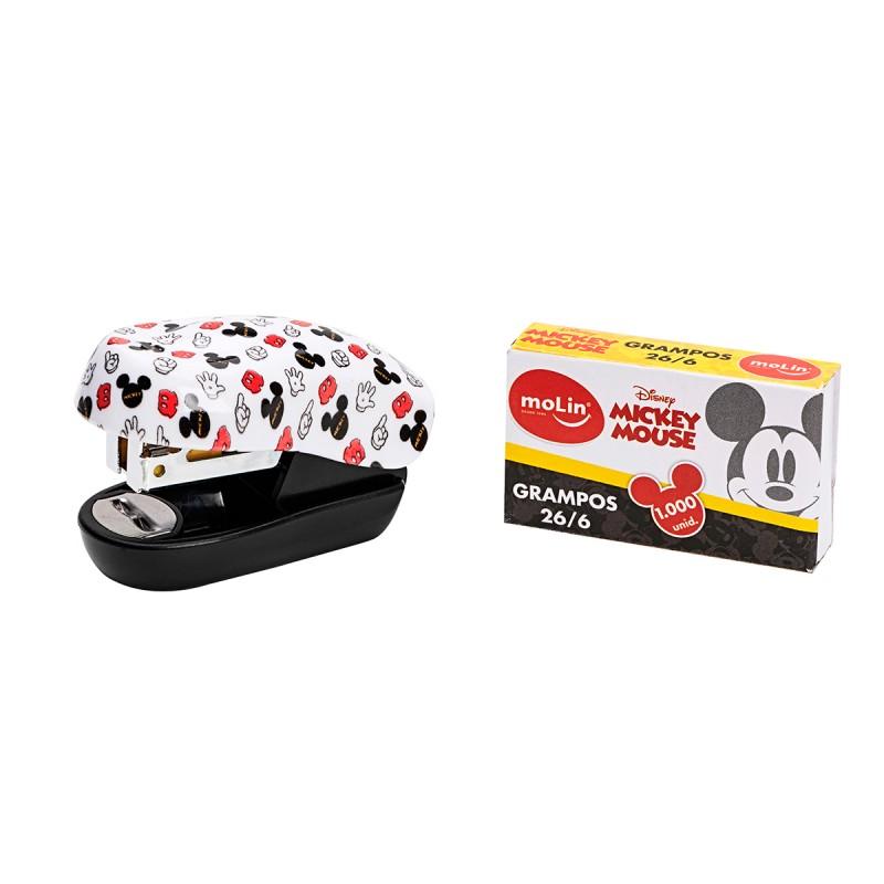 Mini Grampeador MOLIN Mickey + 1000 Grampos 1un.