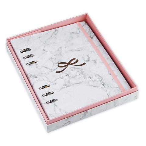 Planner ÓTIMA A5 Pink Stone Mármore com caixa premium