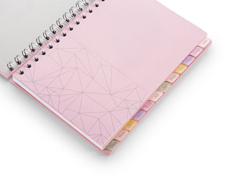 Planner ÓTIMA A5 Wire-o Pink Stone Love