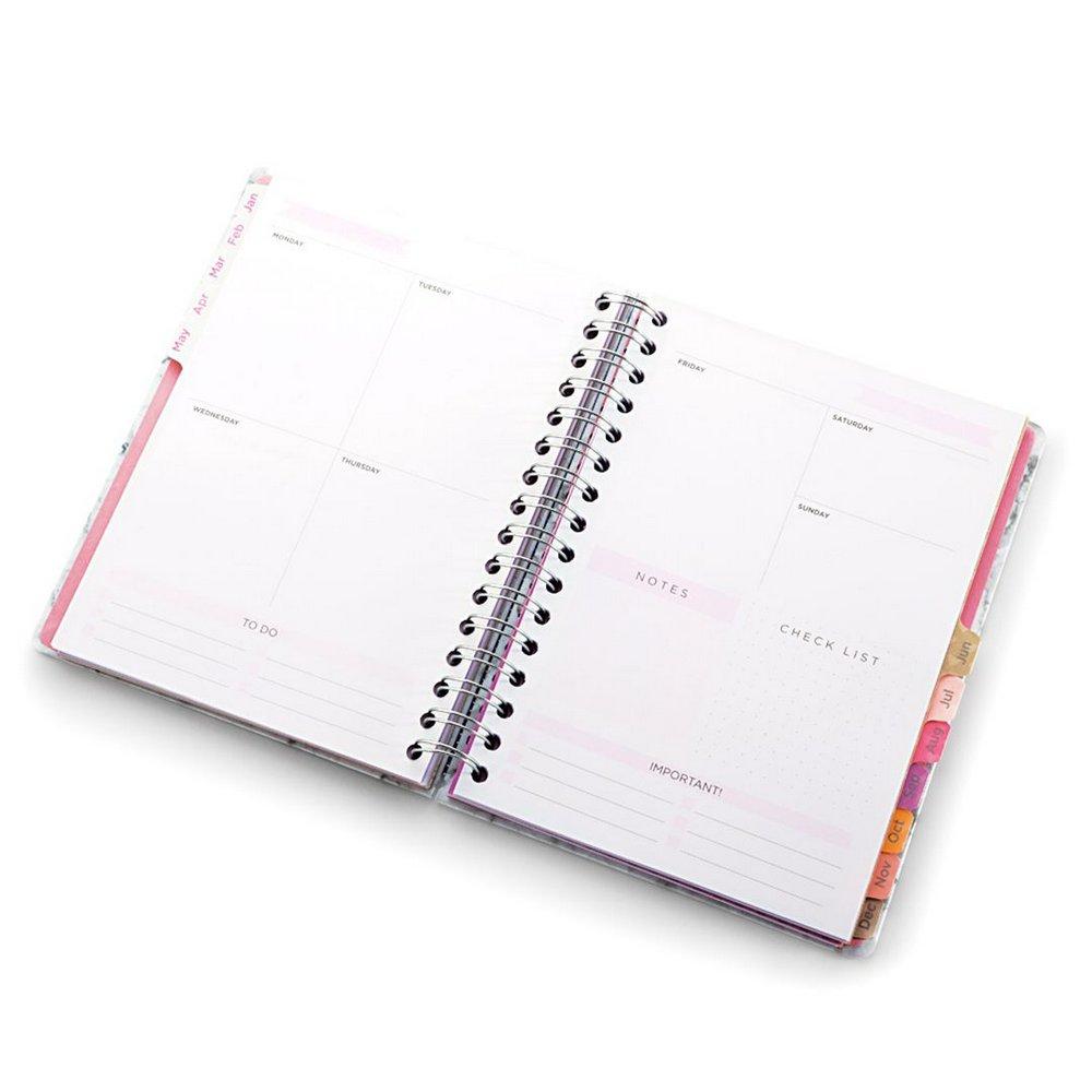 Planner ÓTIMA A5 Wire-o Pink Stone Mármore