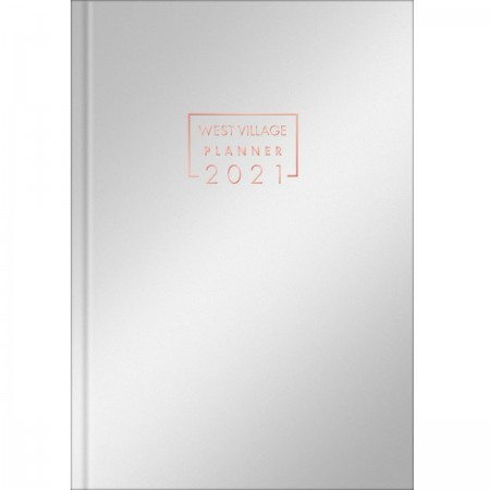 Planner TILIBRA Costurado West Village Metalizado 2021