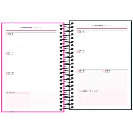 Planner TILIBRA Espiral 1/4 Neon 2021