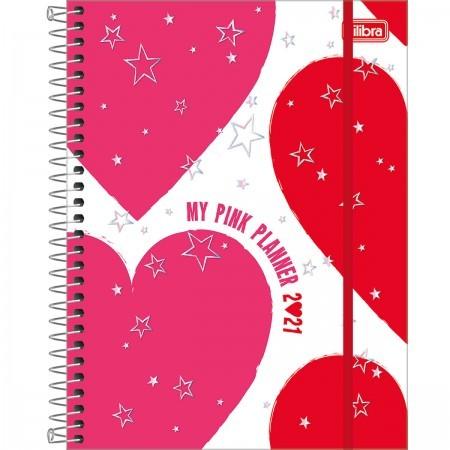 Planner TILIBRA Espiral Love Pink 18x24cm 2021