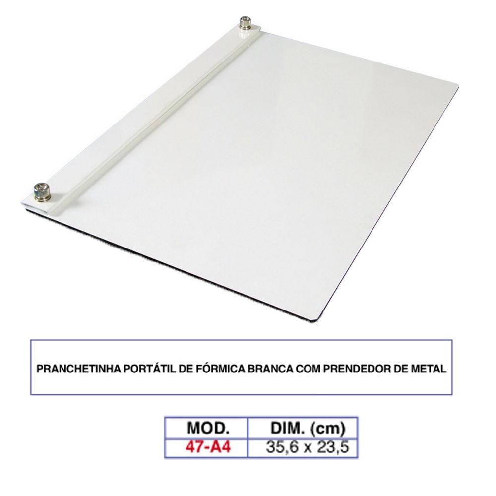 Prancheta Portátil A4 Com Prendedor De Metal 47-a4 - Trident