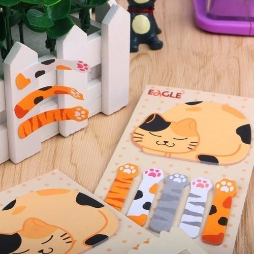 Sticky Notes EAGLE Gatinho Marcador de Páginas 15fls
