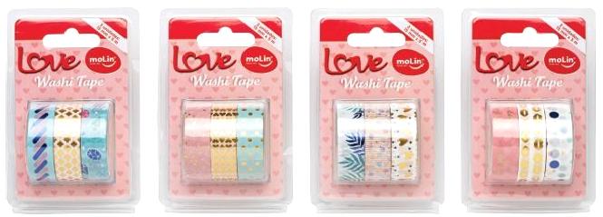 Washi Tape MOLIN Love  Kit 3un.
