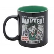 Caneca Coringa Wanted DC Comics Licenciada - 300 ml