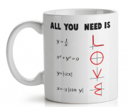 Caneca Matemática All You Need is Love - 325 ml