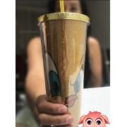 Copo Canudo com Glitter Piu Piu Licenciado 600 ml