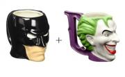 Kit Caneca Batman 3D 480 ml + Caneca Coringa 3D Licenciados