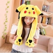 Gorro Touca de Pelúcia Pikachu Kawaii
