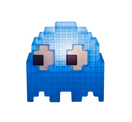 Abajur Infantil Luminária de Mesa Fantasminha Pac-Man Azul Inky Licenciada