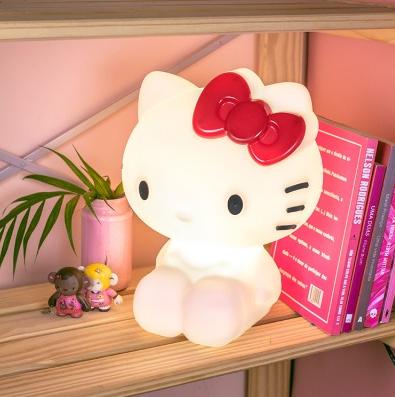 Abajur Infantil Luminária de Mesa Hello Kitty Licenciada