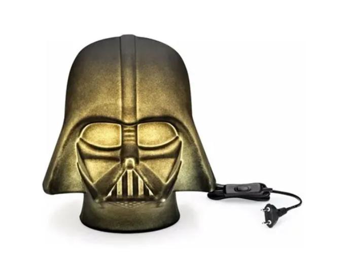Abajur Luminária de Mesa Darth Vader Star Wars 3D - Licenciado