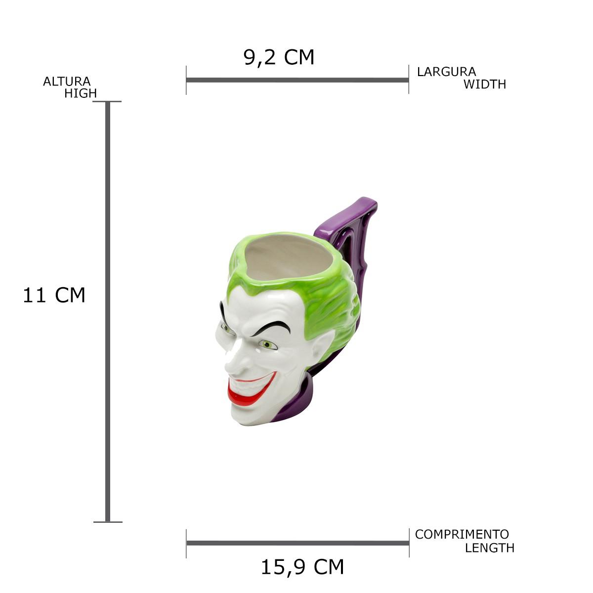 Caneca 3D Rosto Coringa DC Comics Licenciada