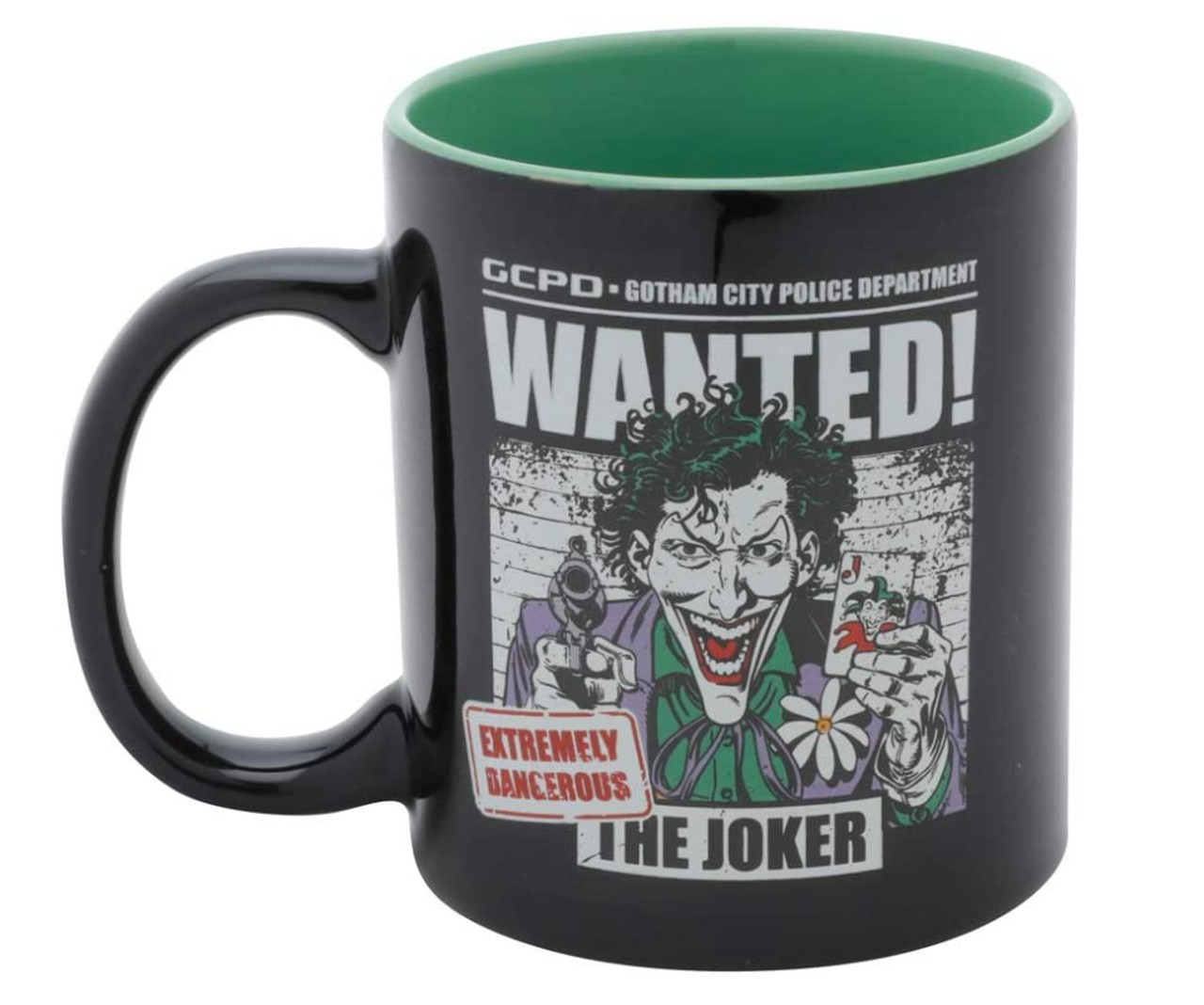Caneca Coringa Wanted DC Comics Licenciada - 300 ml