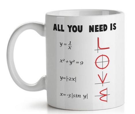 Caneca Matemática All You Need is Love - 325 ml