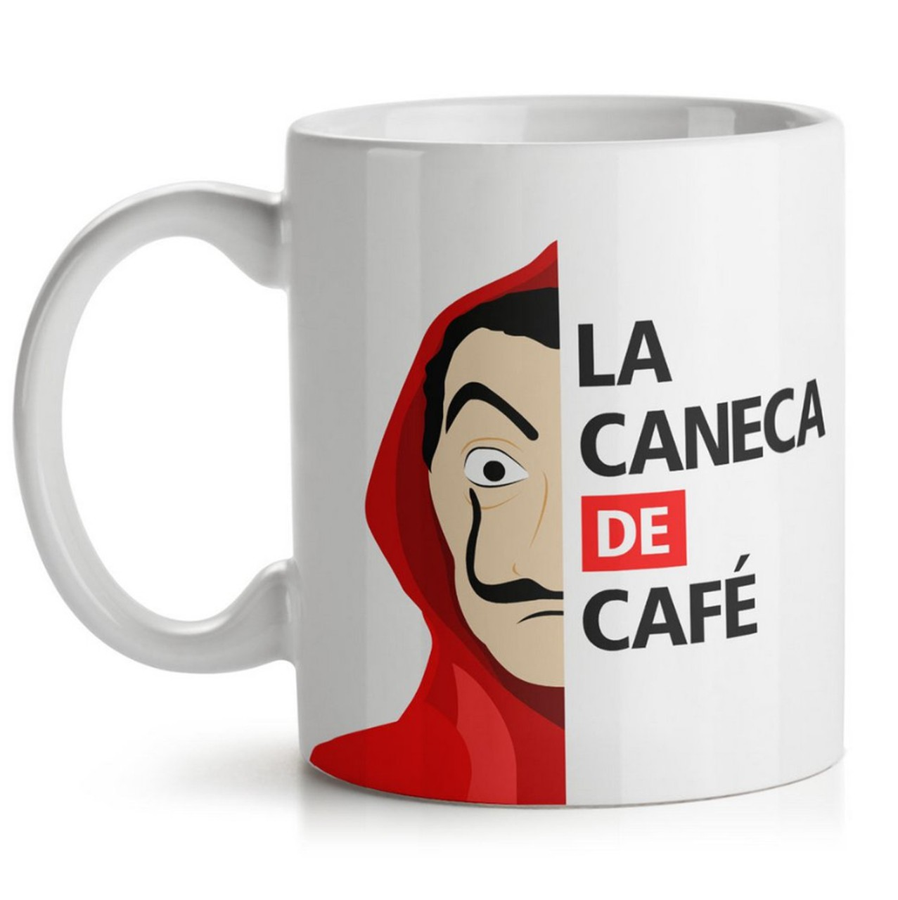 Kit Almofada La Casa de Papel + Caneca La Caneca de Café