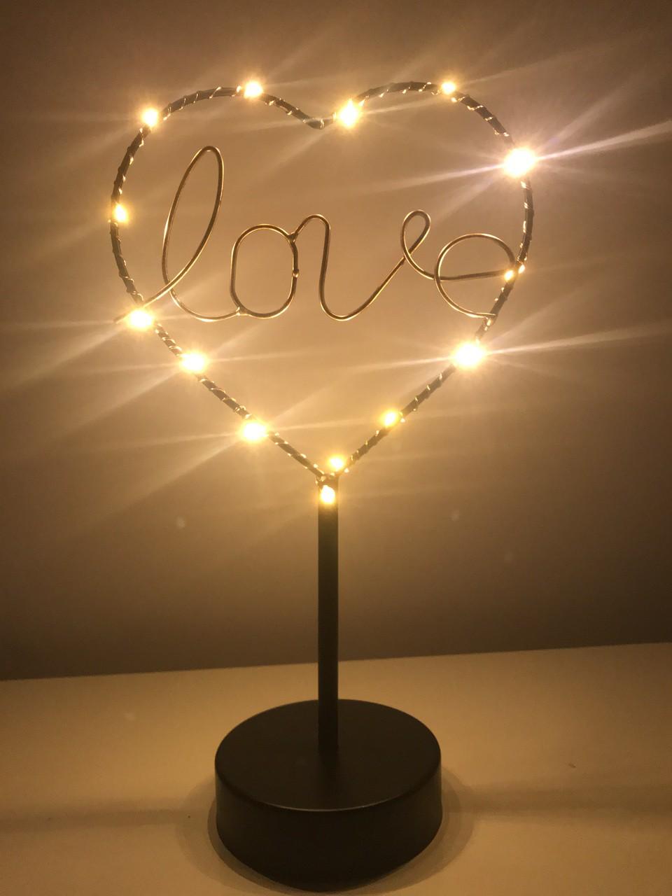 Luminária Abajur Love Heart