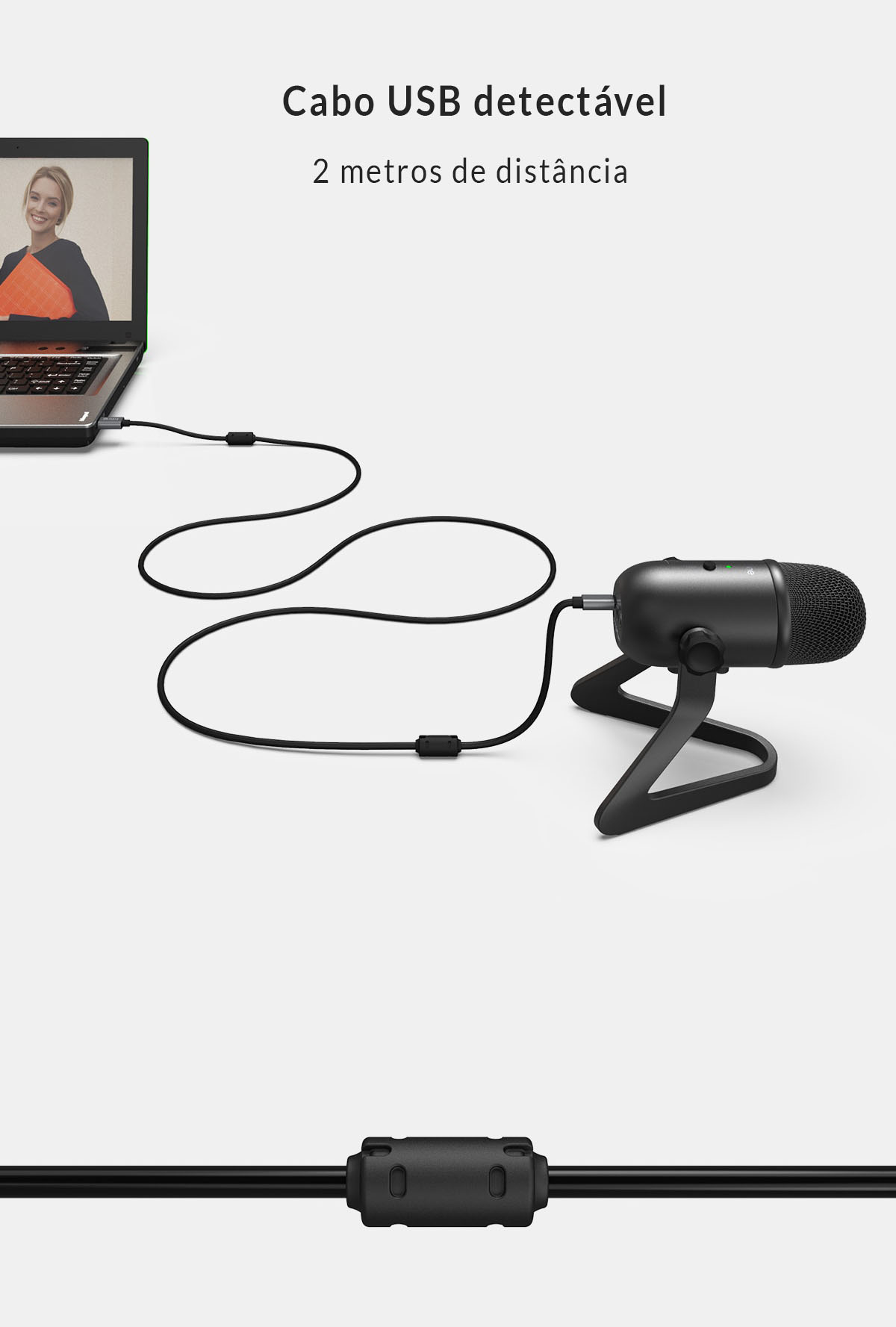 Microfone Condensador Fifine K678 Profissional
