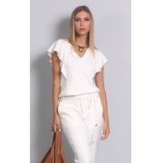BLUSA JABOUR LATERAL BORDADO CORRENTE