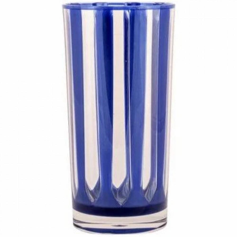 COPO ALTO LISTRA LONG DRINK ACRÍLICO AZUL