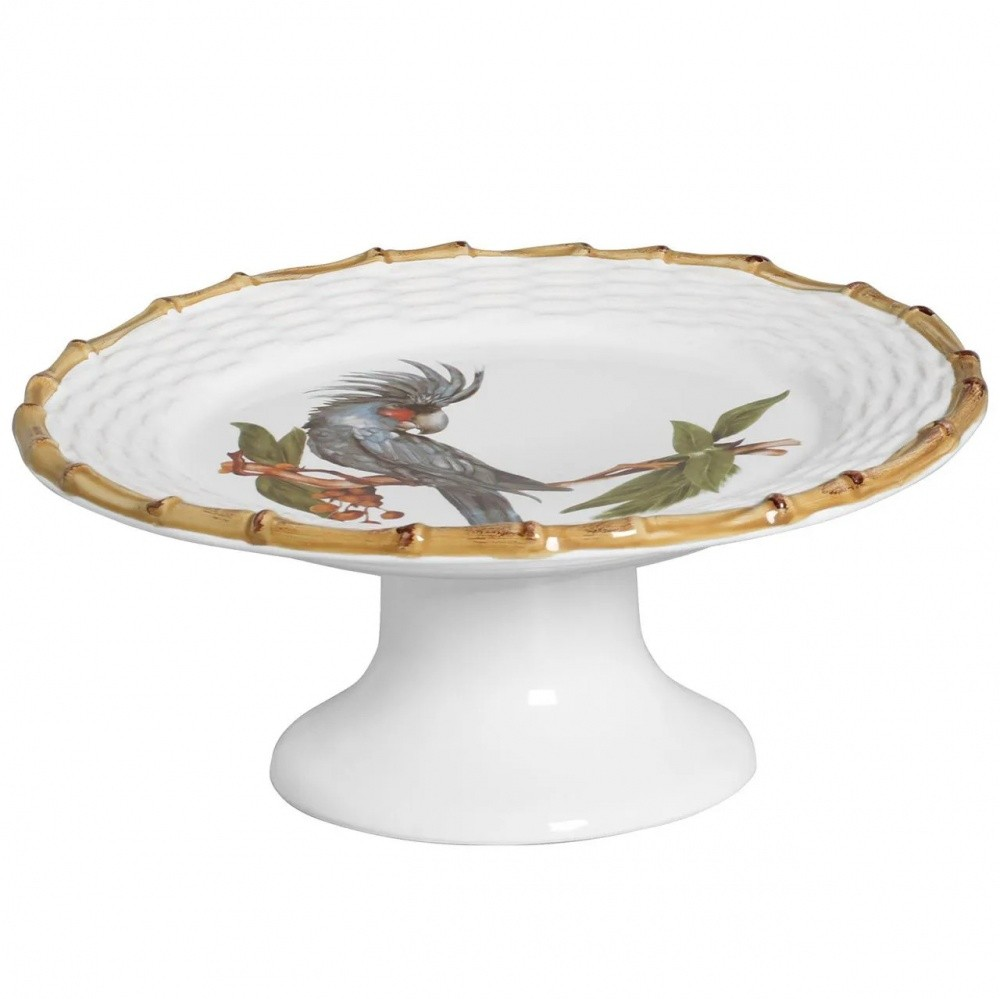 PORTA BOLO TROPICAL BIRDS COM PÉ