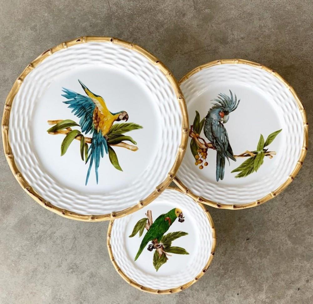 PORTA TORTA TROPICAL BIRDS COM PÉ