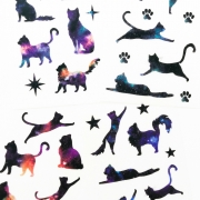 Adesivos Gatos e Cosmos