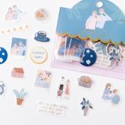Adesivos Love Story Azul