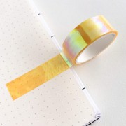 Deco Tape Holográfica Amarela