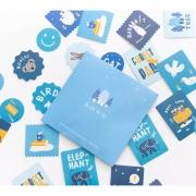 Envelope de adesivos Nature Azul