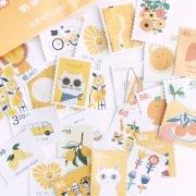 Envelope de adesivos Selos Amarelo