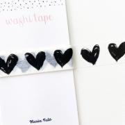 Washi Tape Black Hearts (metro)